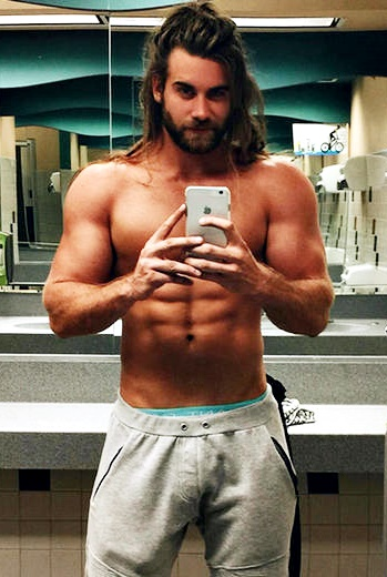 King of Man Buns The man showing off his buff body and unleashing his man bun in the new Icelandic Glacial Water commercial is Brock O'Hurn. O'Hurn became a social media sensation by posting a video clip of himself pulling his long hair into a top knot on Instagram. The clip has received 5 millions views on Facebook since it was posted, and O'Hurn has 1.7 millions followers on Instagram.