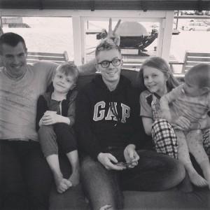 Sæþór and Ágúst with their cousins.