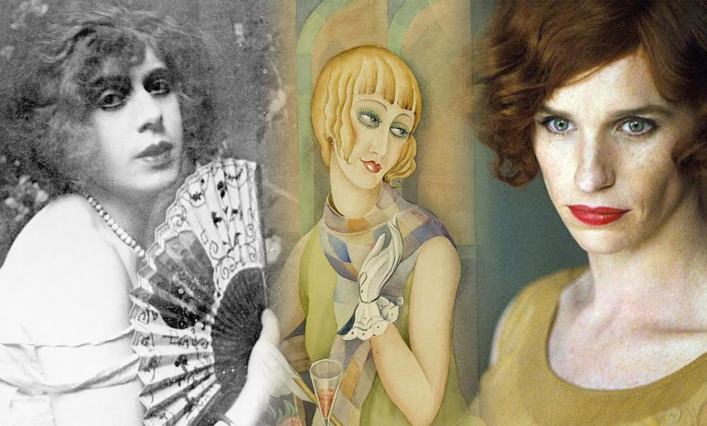 From left: The real Lili Elbe. A painting of Lili by wife adsf. Ed