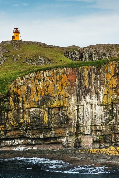 Lighthouse at Papey Island. Photo by Patrick Frauchiger.