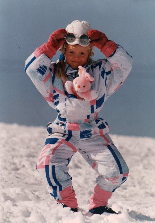 "Outgoing ""In Iceland I was the kind of kid who liked playing outside."" Eva María pictured around the age of 5."