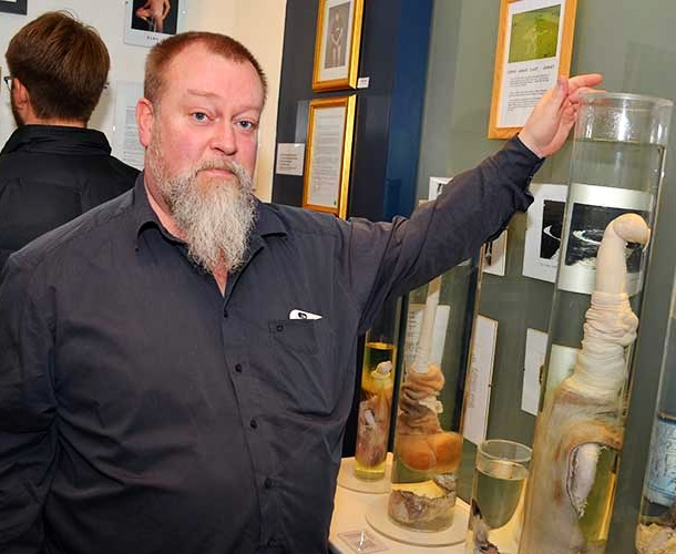The Phallological Museum in Iceland is a family company in Reykjavik, operated by curator Hjörtur Gísli Sigurðsson, his wife and their son.