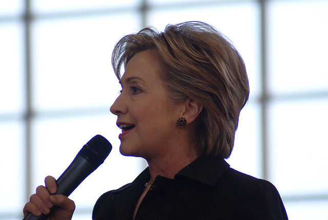 As recently as this year Hillary Clinton said that while she personally supported gay marriage, the issue was best left for states to decide. Since then Clinton has placed equal rights at the forefront of her campaign. Photo/Marc Nozell, Flickr.