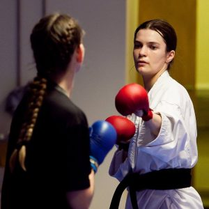 Karate instructor María Helga Guðmundsdóttir thinks it's important to open up a discussion on queer prejudice and bullying in sports in Iceland. She will be giving a lecture