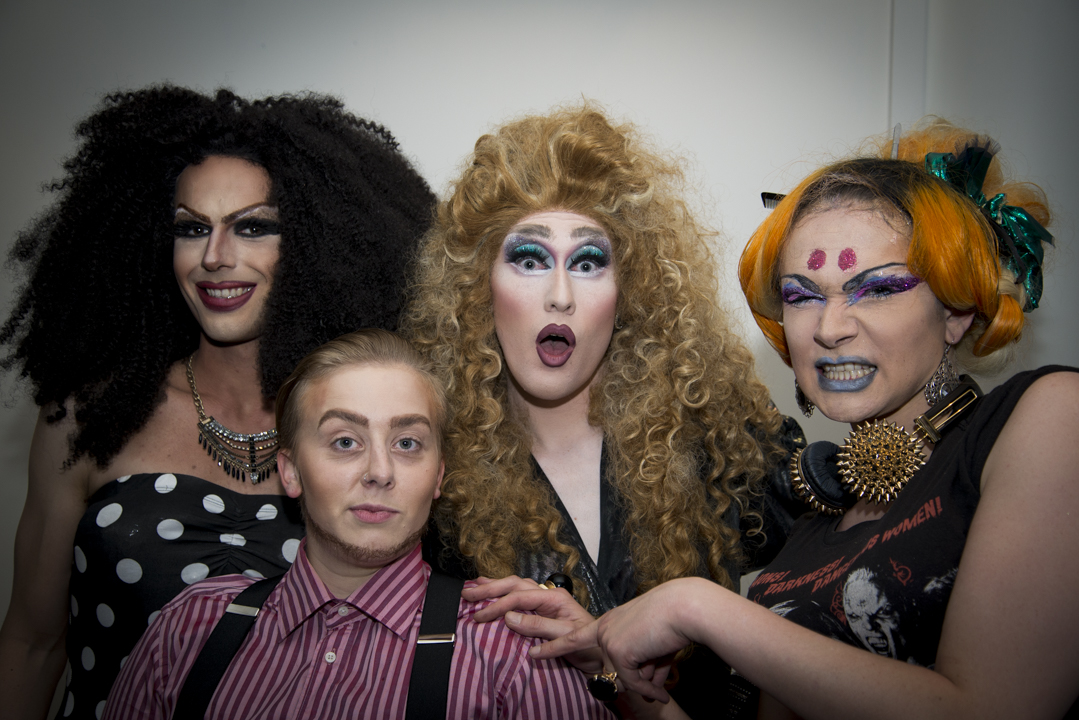 Members of the local drag artist group Drag-Súgur showed up.