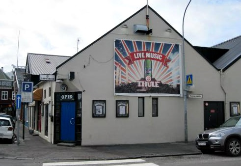 A legendary bar Gaukurinn is a live music venue and bar, situated in downtown Reykjavík.