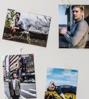 To honour the end of the first year of Elska, the editorial team has put together a 21-piece set of collectible 5x7photo-postcards. Each is dedicated to one boy from the first six issues of Elska.