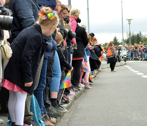 The Reykjavik Pride Parade draws tens of thousands of people to the streets every year. Photo/Sigurþór Gunnlaugsson.