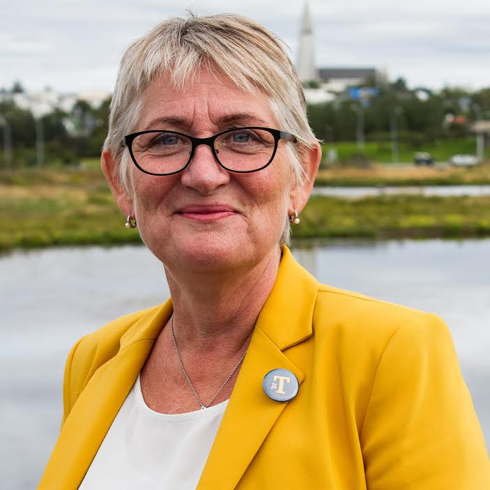 Helga Þórðardóttir, chair of Dögun.