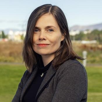 Katrín Jakobsdóttir, chair of Vinstri Græn.