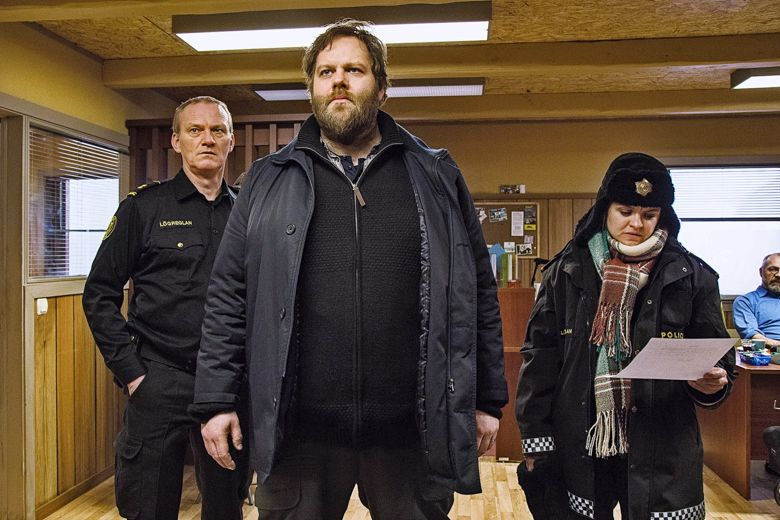 In Trapped, small town police officer Andri (Ólafur Darri Ólafsson) and his team of two (Ilmur Kristjánsdóttir and Ingvar E. Sigurðsson) have enough trouble on their hands with their remote North Iceland town getting cut off by a snow storm, when an international ferry arrives at the same time a mutilated torso is discovered in the harbour. Trapped was first broadcast on RÚV in December but has since been shown in most of the Nordic countries, Great Britain, France, Germany, Poland and Australia. RÚV have recently announced that a second series will be made.