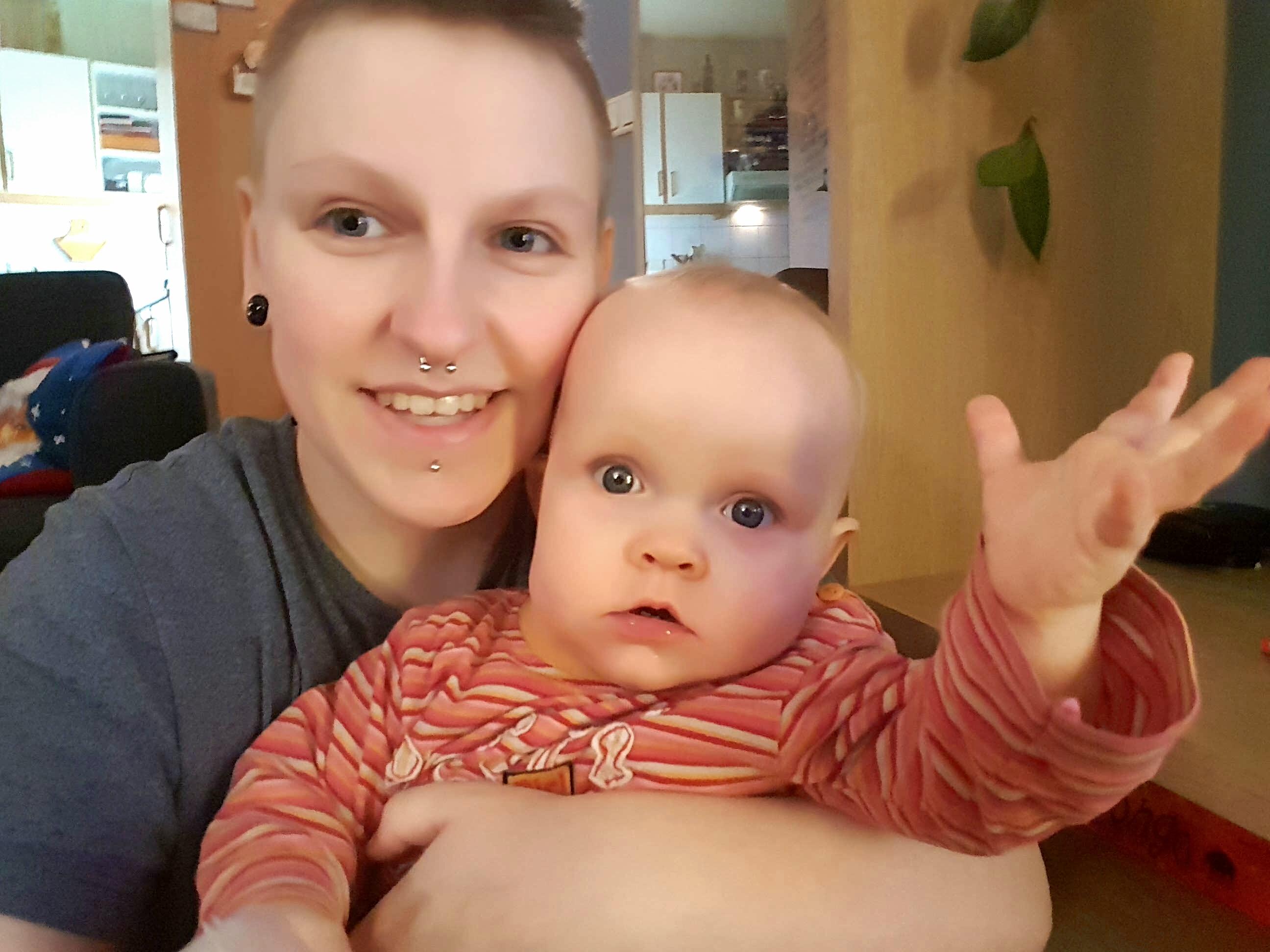 Henrý Steinn is looking forward to celebrate Christmas with little Védís Bára.