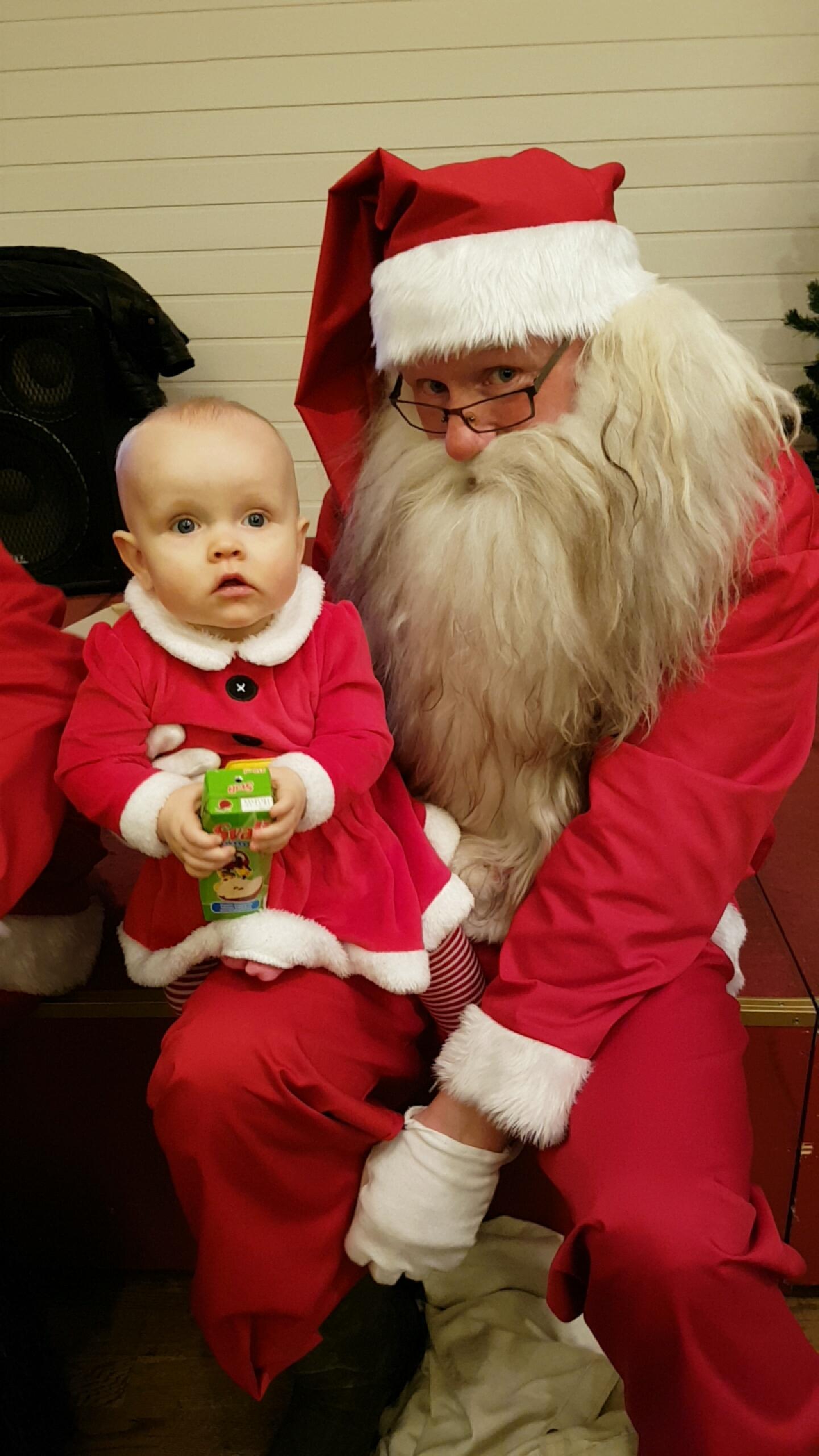 Védís Bára with Santa.